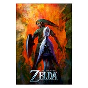 Хардпостер (на твёрдой основе) Legend of Zelda